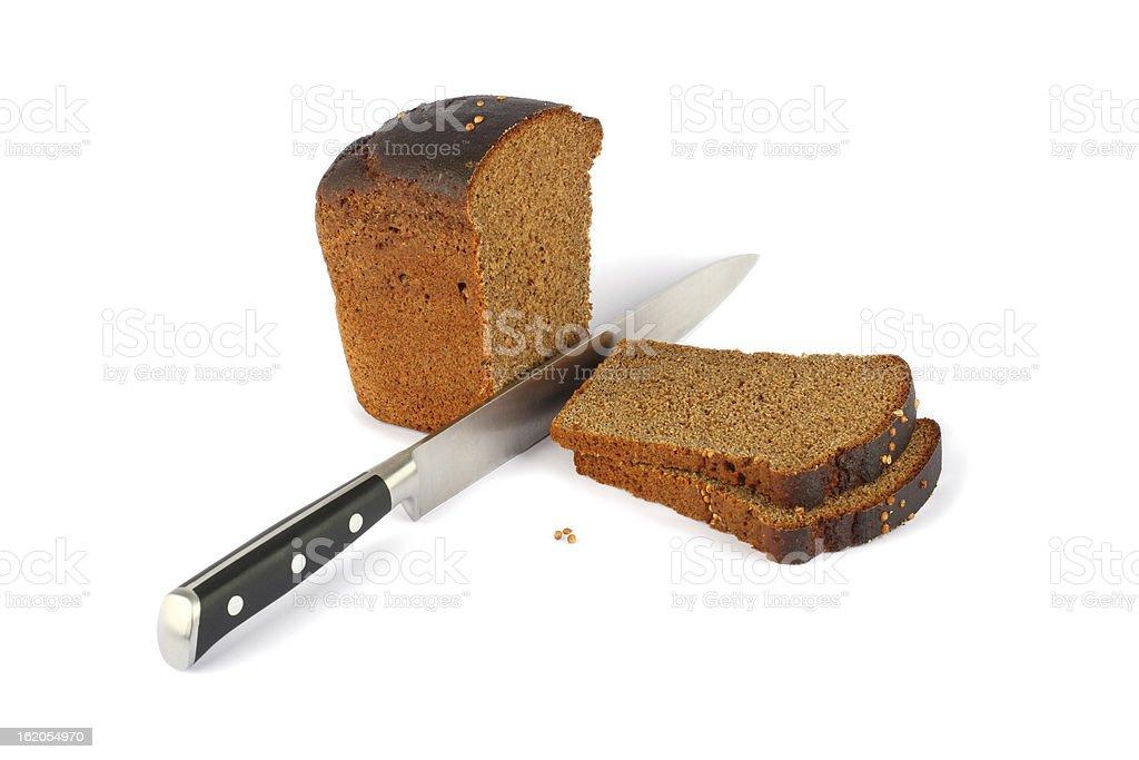 ブラウンのパンやナイフ ロイヤリティフリーストックフォト