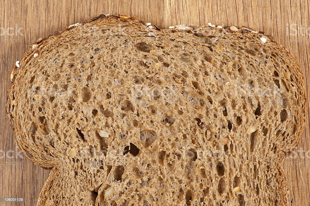 Brown bread slice stock photo