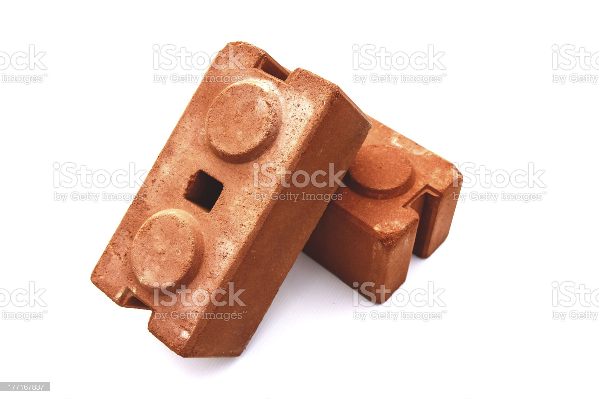 brown brick for building royalty-free stock photo