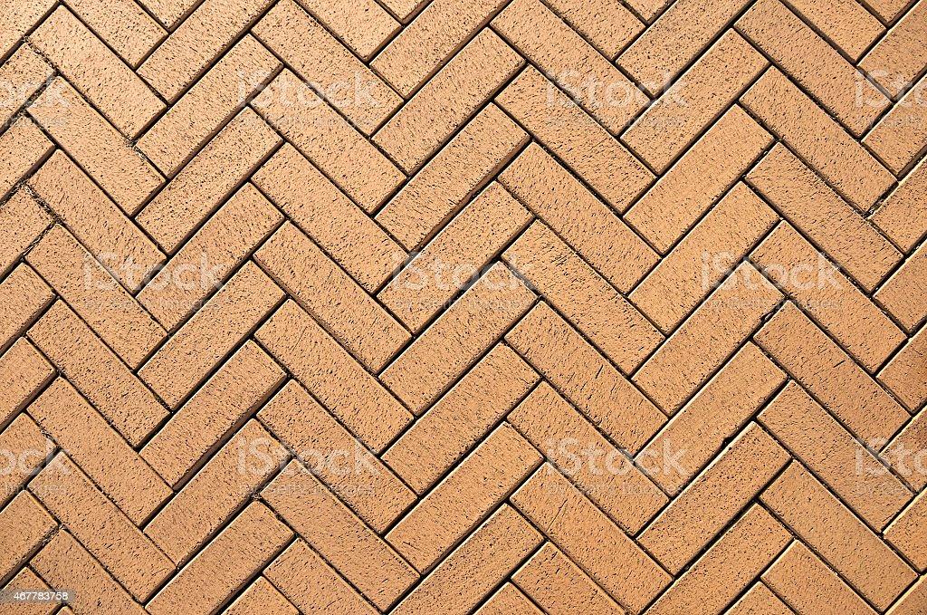 Brown brick pavement stock photo