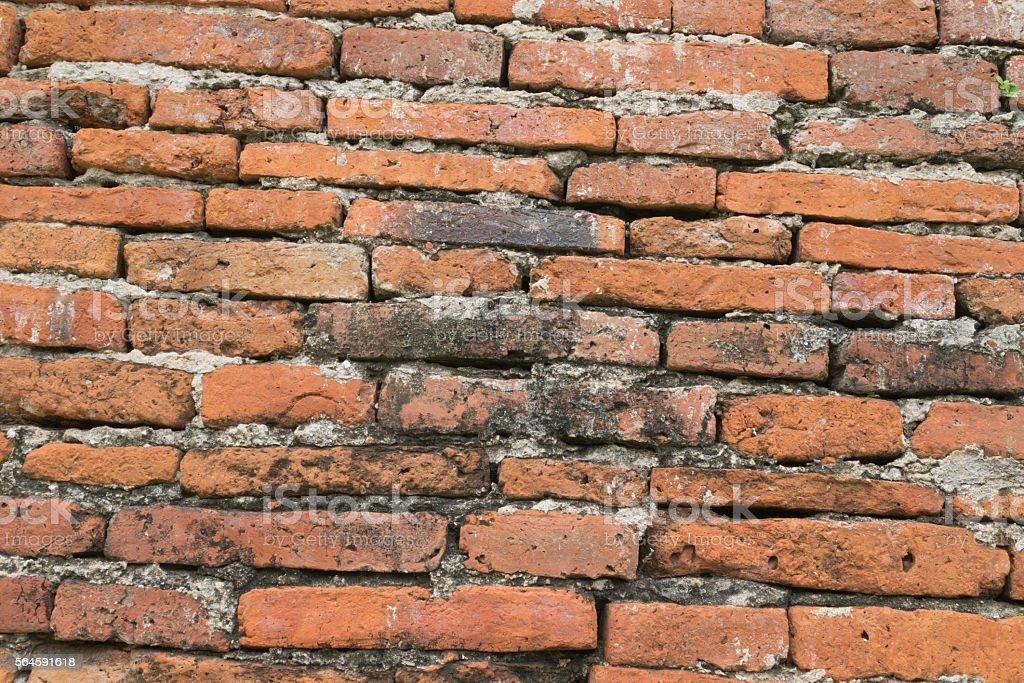 Brown Brick wall pattern texture stock photo