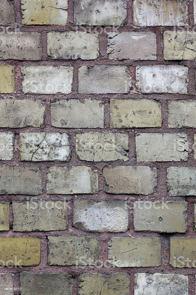 brown brick wall surface #3, plan view, overcast sky royalty-free stock photo