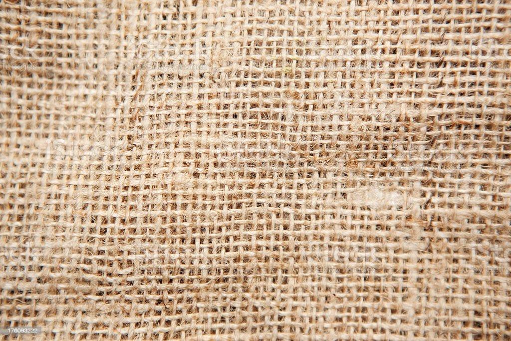 Brown Burlap Texture Background - Closeup royalty-free stock photo