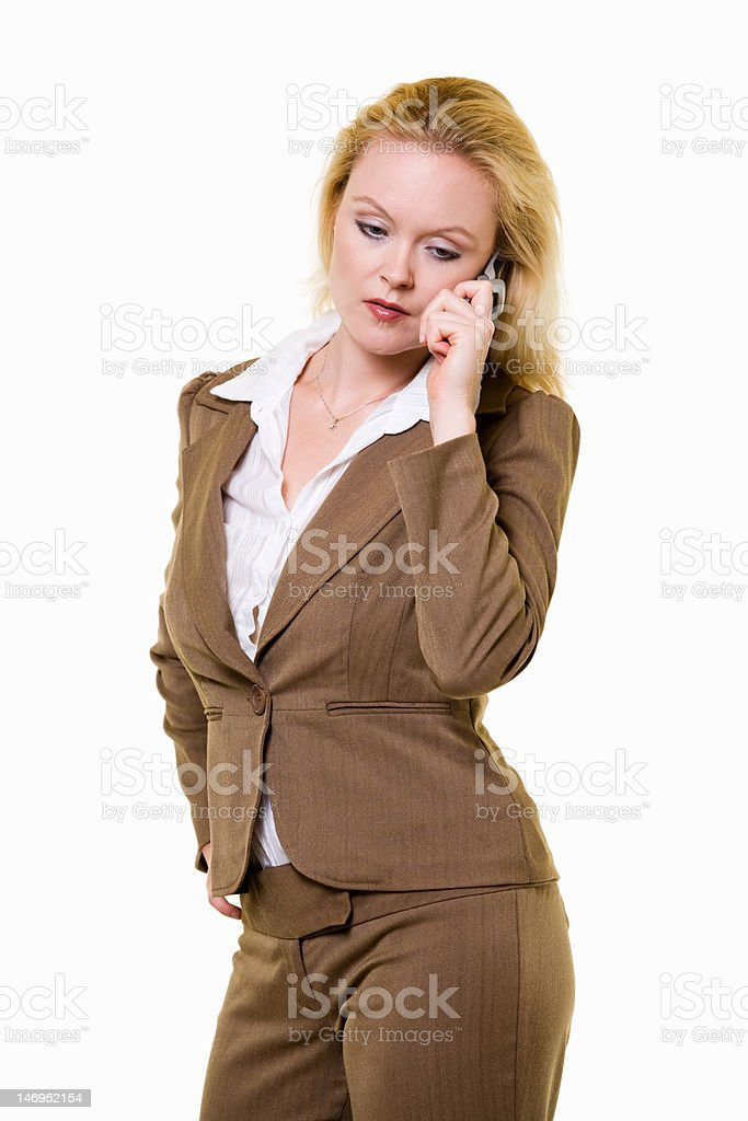 Brown business suit royalty-free stock photo