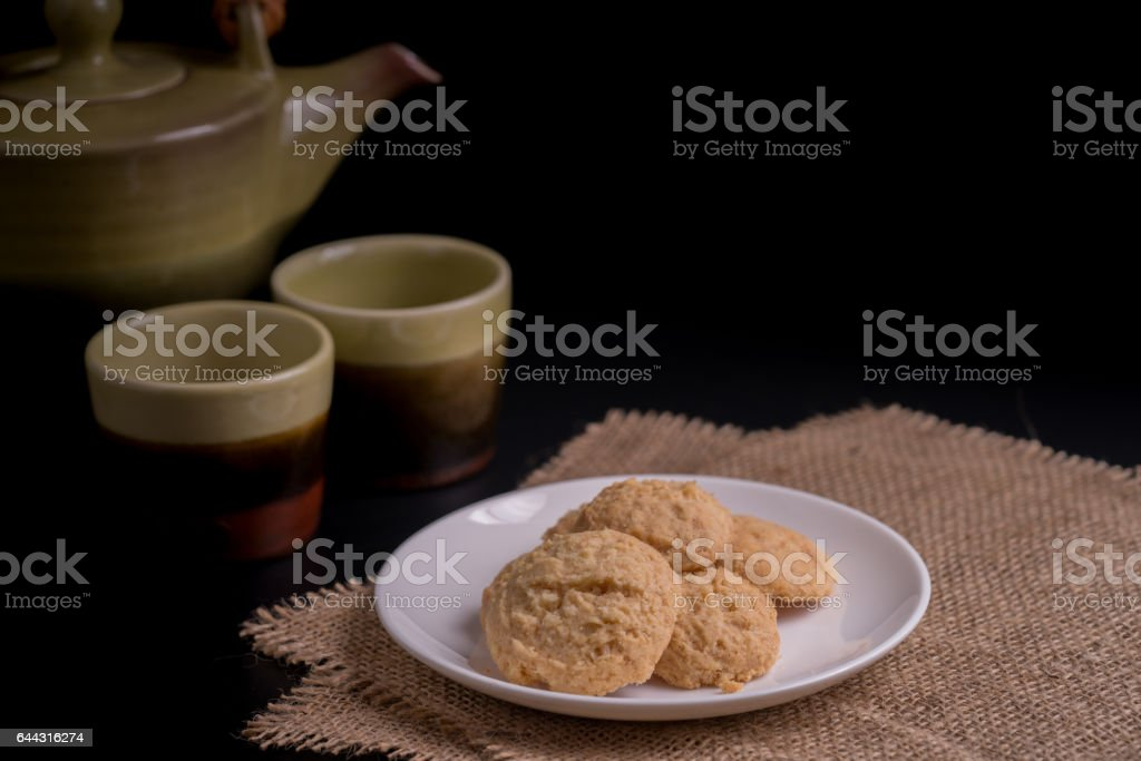 Brown butter cookie stock photo