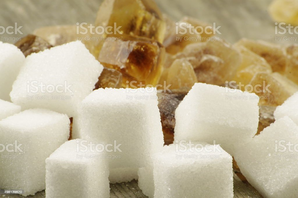 Brown candied sugar stock photo