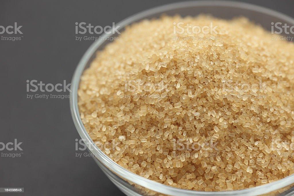 Brown cane sugar royalty-free stock photo