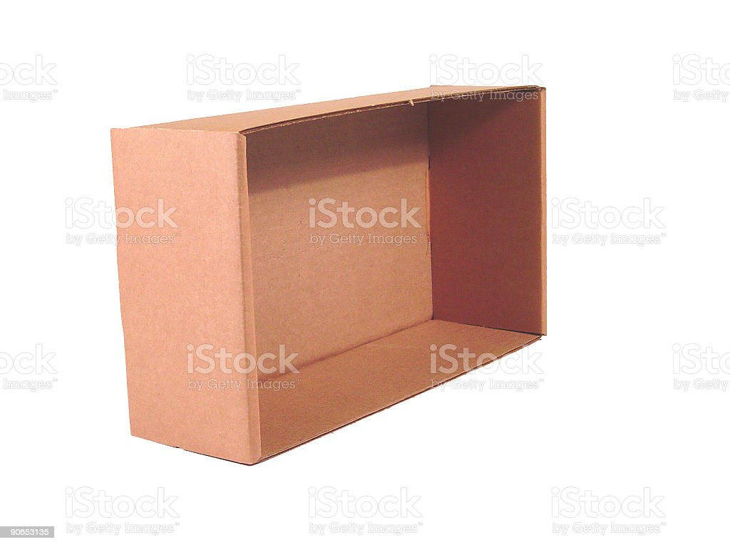 Brown Cardboard Box 3 royalty-free stock photo