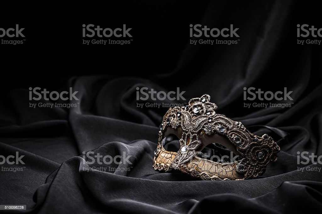 Brown carnival mask stock photo