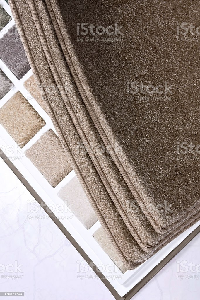 Brown carpet swatch stock photo