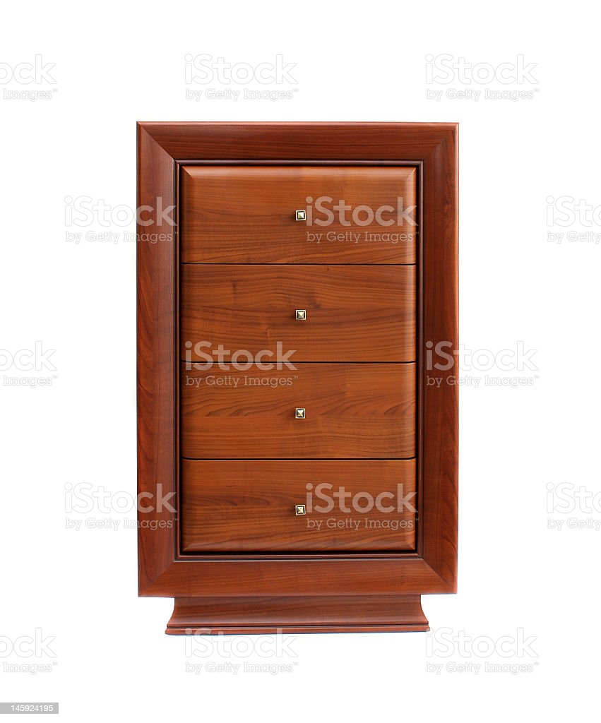 brown chest of drawers royalty-free stock photo