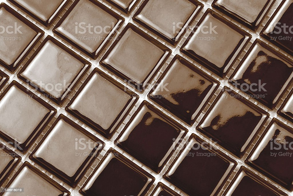 brown chocolate color tiles royalty-free stock photo