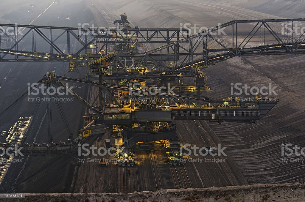 Brown coal opencast mining royalty-free stock photo