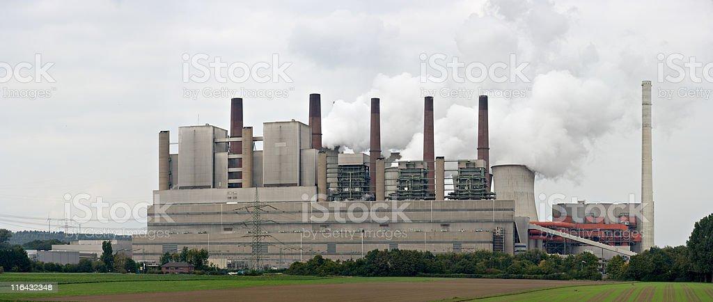 Brown Coal Power Station (XXL) royalty-free stock photo