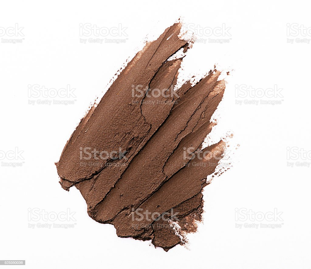 Brown color eye shadow make up cream stock photo