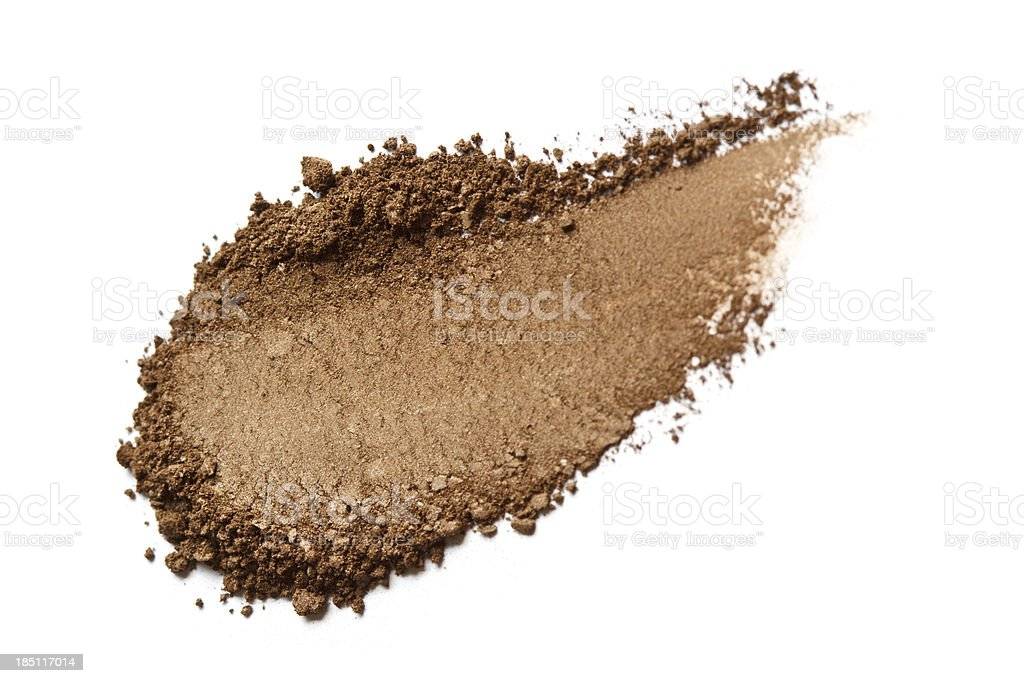 Brown Color Eyeshadow royalty-free stock photo