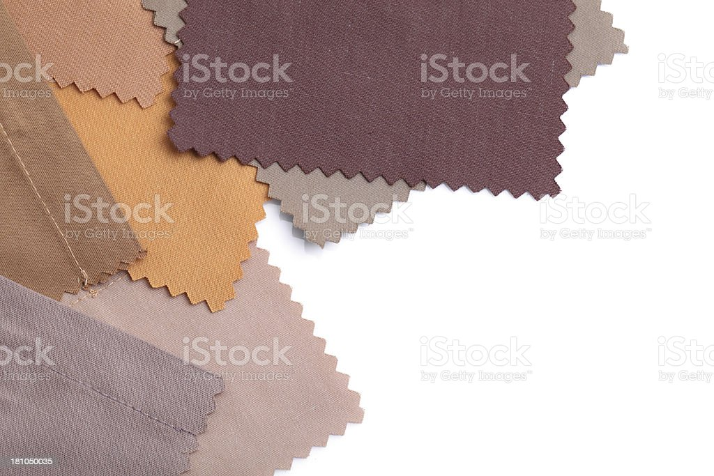Brown Color Fabric Swatch Background royalty-free stock photo