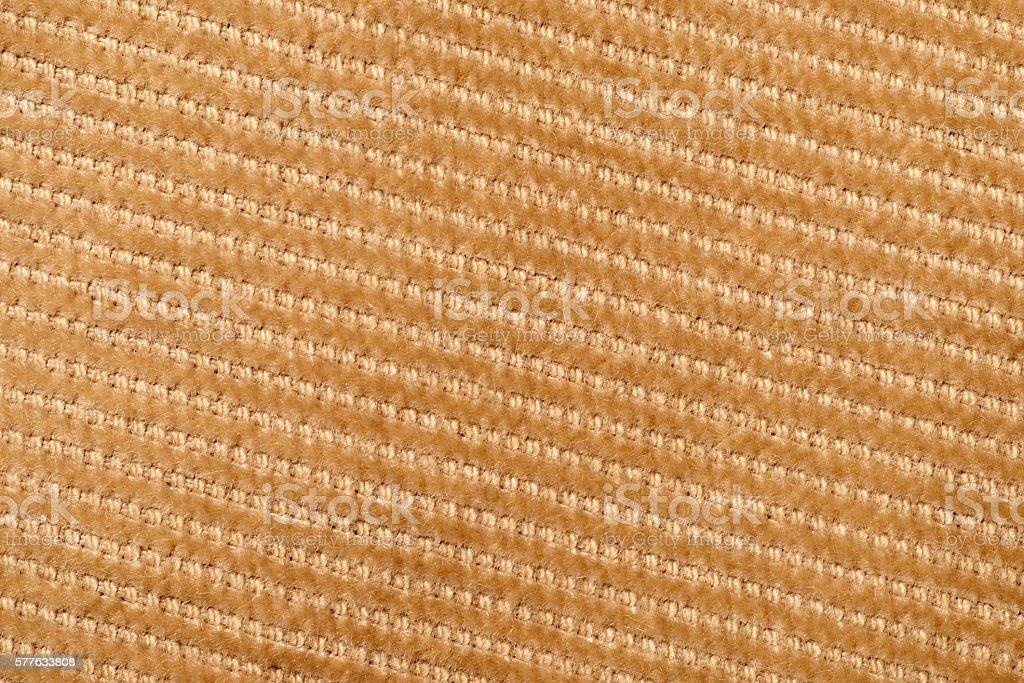 Brown corduroy texture stock photo