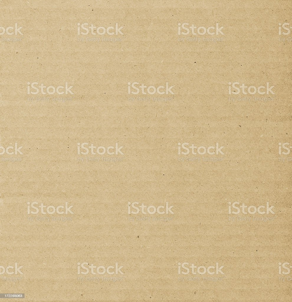 Brown Corrugated Cardboard Backgound stock photo
