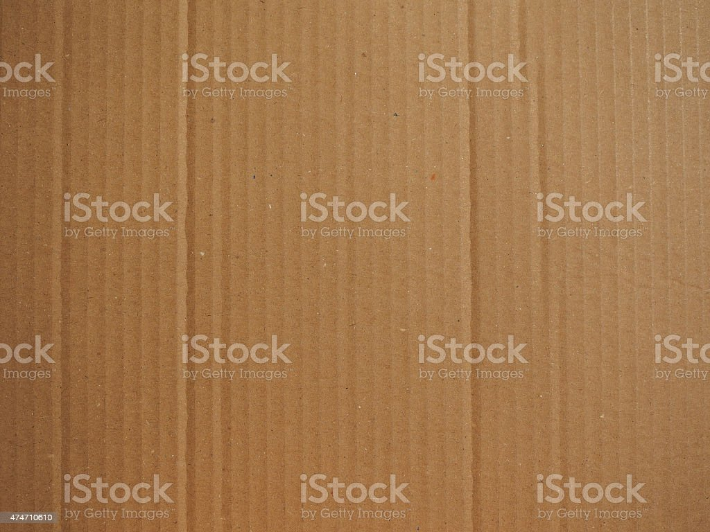 Brown corrugated cardboard background stock photo