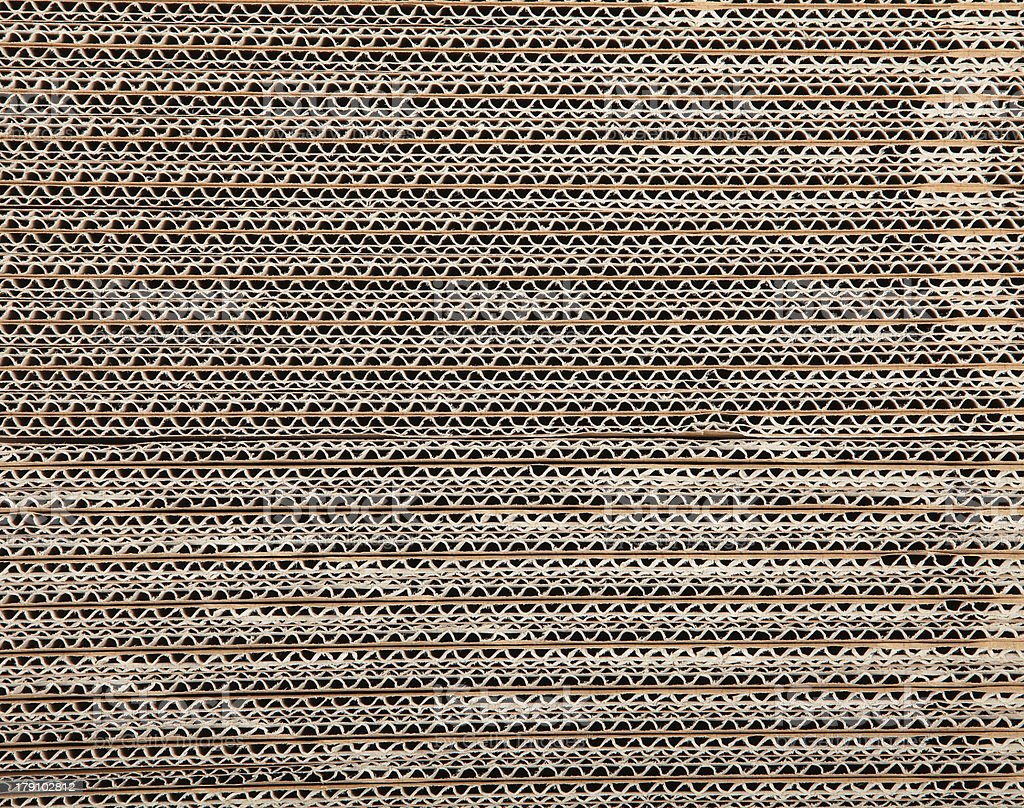 Brown corrugated cardboard royalty-free stock photo