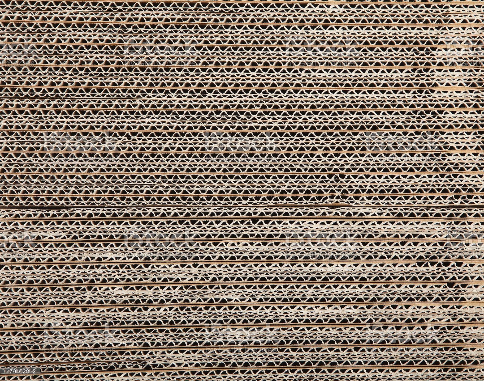 Brown corrugated cardboard royalty-free stock photo