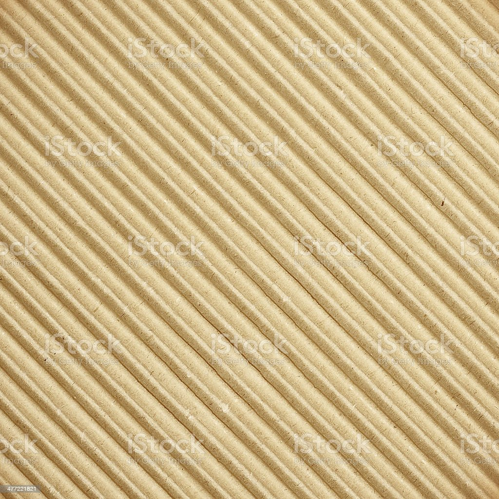 Brown corrugated cardboard texture royalty-free stock photo