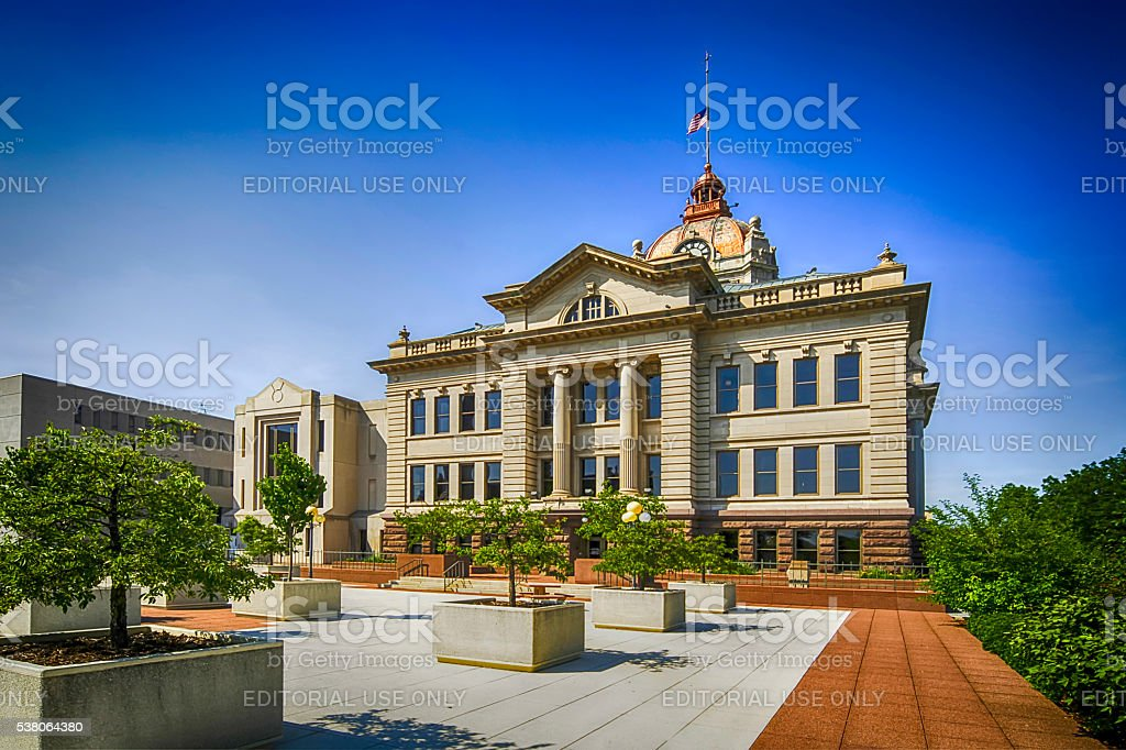 Brown County Courthouse building in Green Bay, Wisconsin stock photo