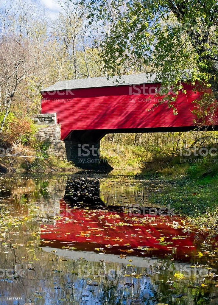 Brown County Covered Bridge stock photo