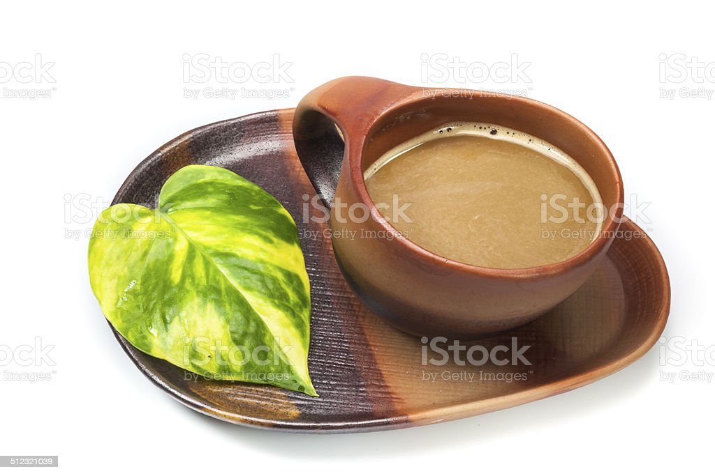 brown cup of coffe stock photo