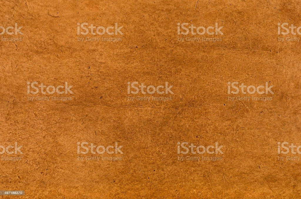 brown daphnepaper with leathery texture stock photo