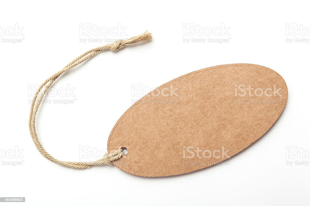 Brown Tag stock photo