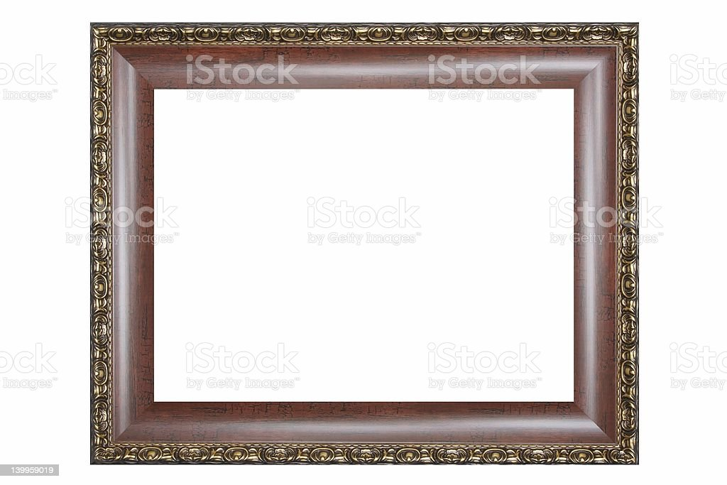 Brown, decorate old Frame stock photo