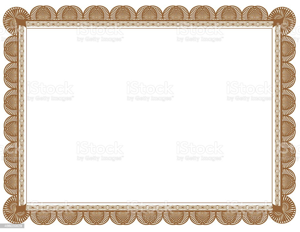 Brown Document Frame 8.5 x 11 stock photo