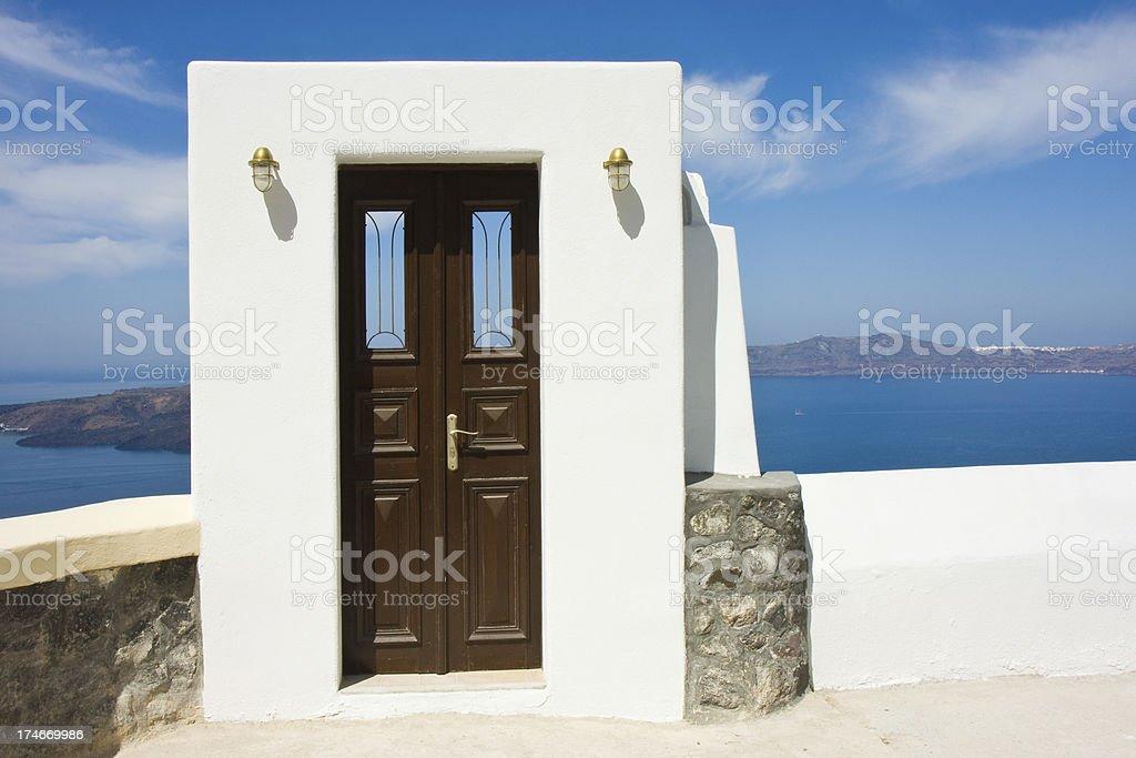 brown door royalty-free stock photo