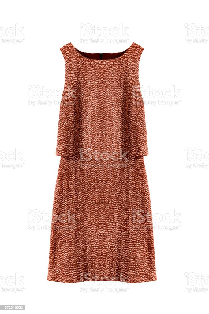 Brown dress isolated stock photo
