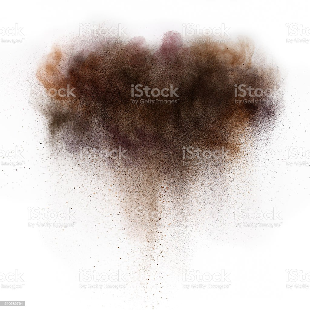 brown dull cloud stock photo