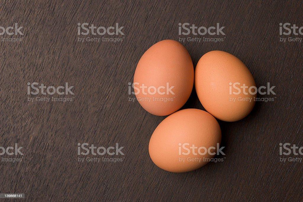 Brown Egg Trio stock photo