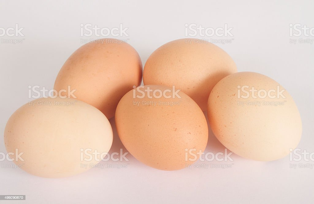 Brown Eggs stock photo