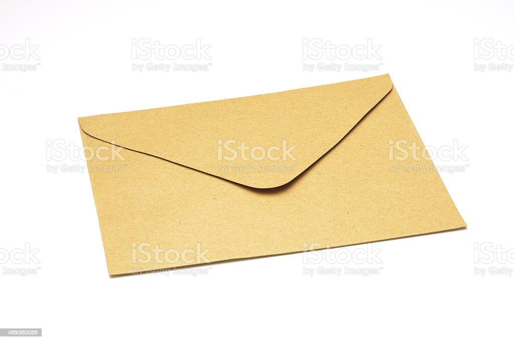 Brown envelope royalty-free stock photo