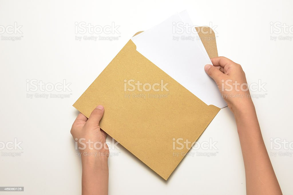 Brown envelope royalty-free stock photo