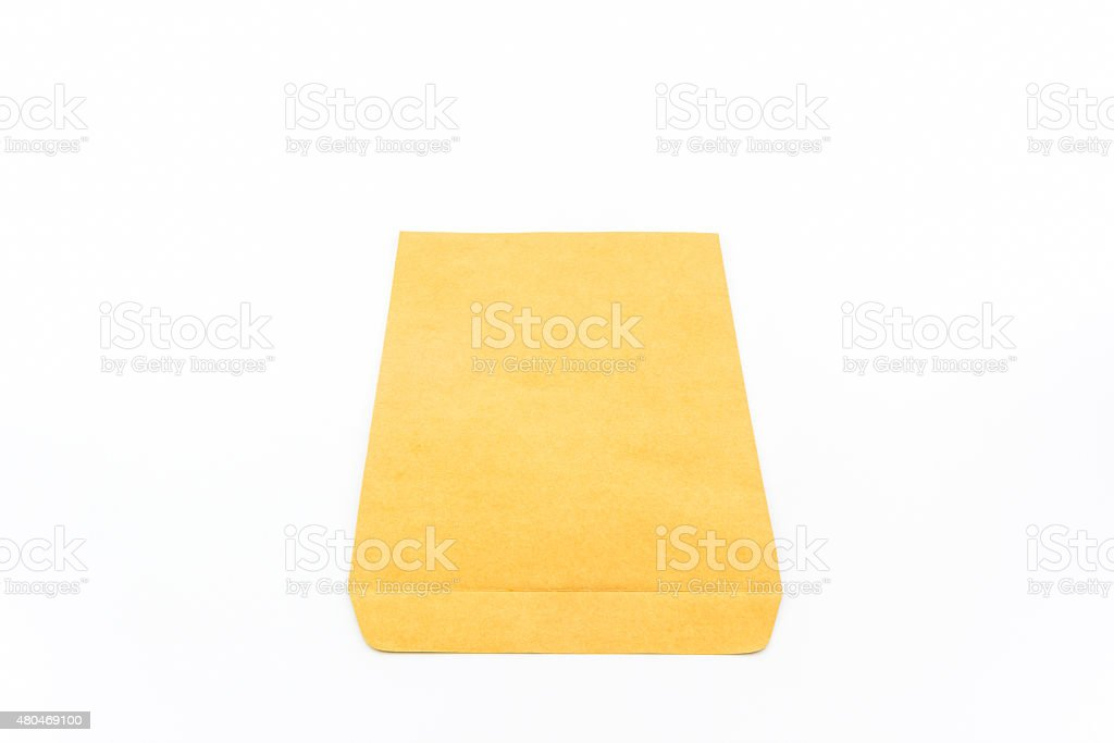 Brown envelope. stock photo
