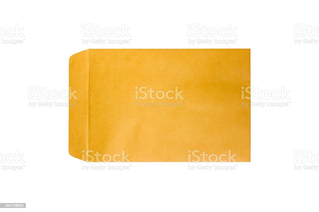 Brown envelope. stock photo