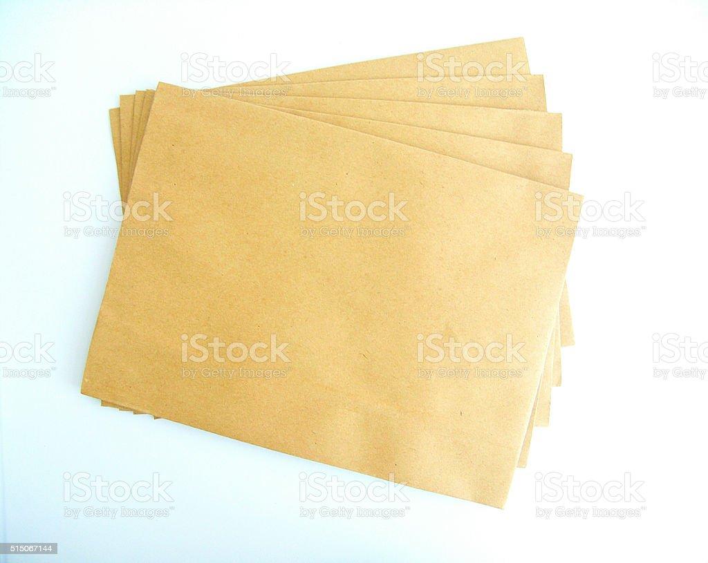 Brown envelope stock photo
