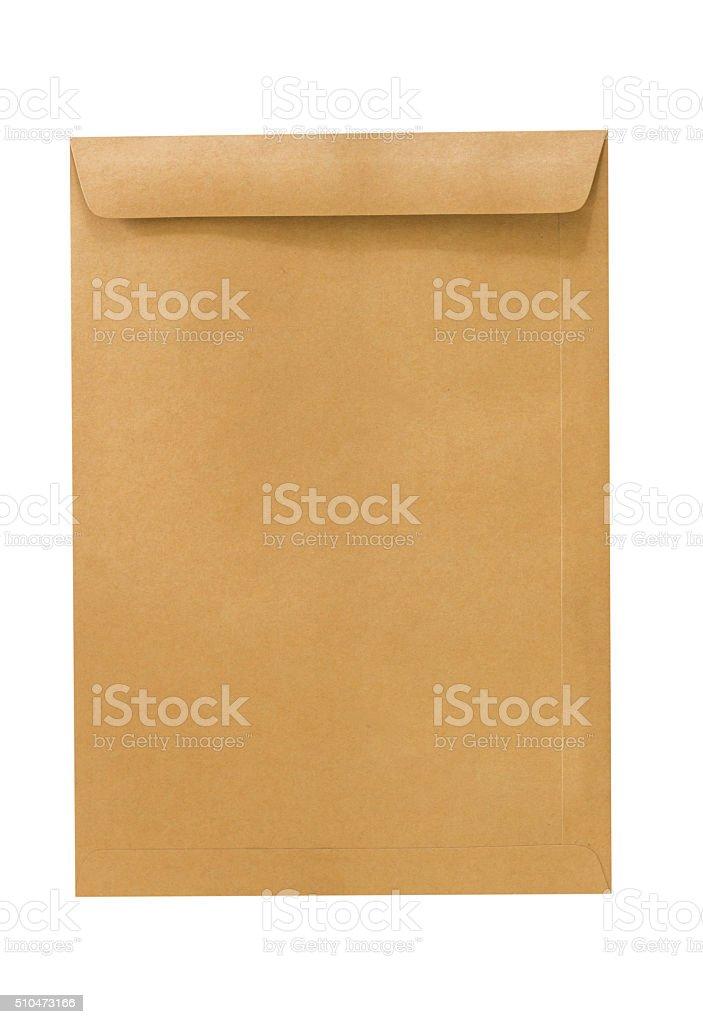 Brown envelopes isolated on white background stock photo
