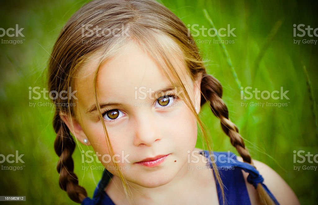 Brown Eyed Girl royalty-free stock photo