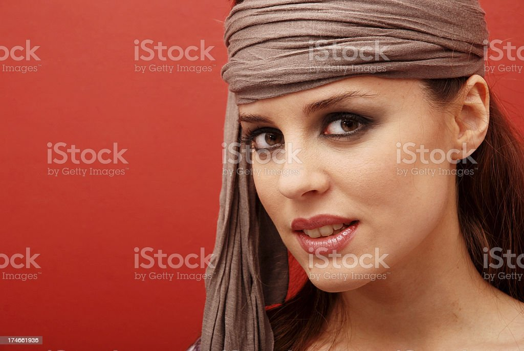 Brown eyed woman royalty-free stock photo