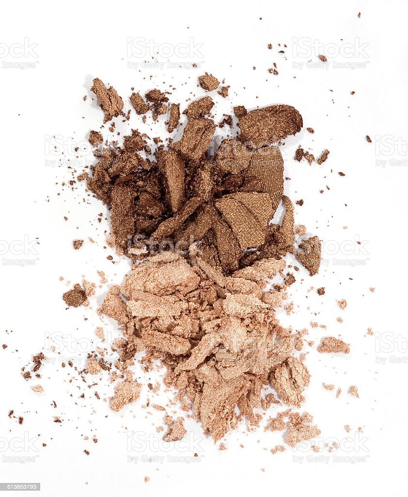 brown eyeshadow stock photo
