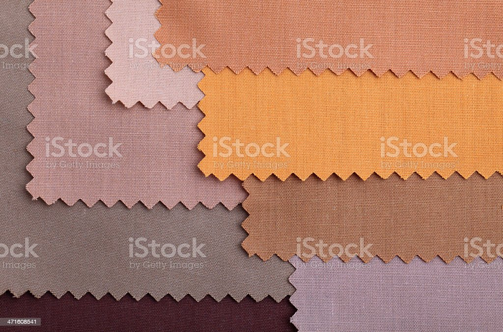 Brown Fabric Swatch Background royalty-free stock photo