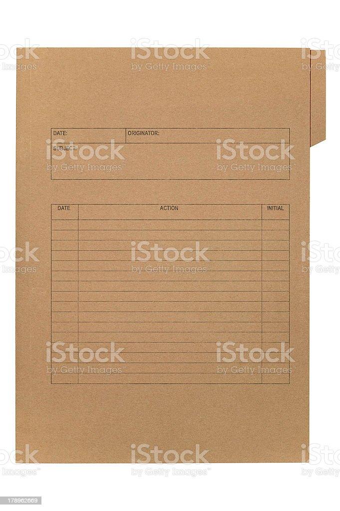 Brown file stock photo